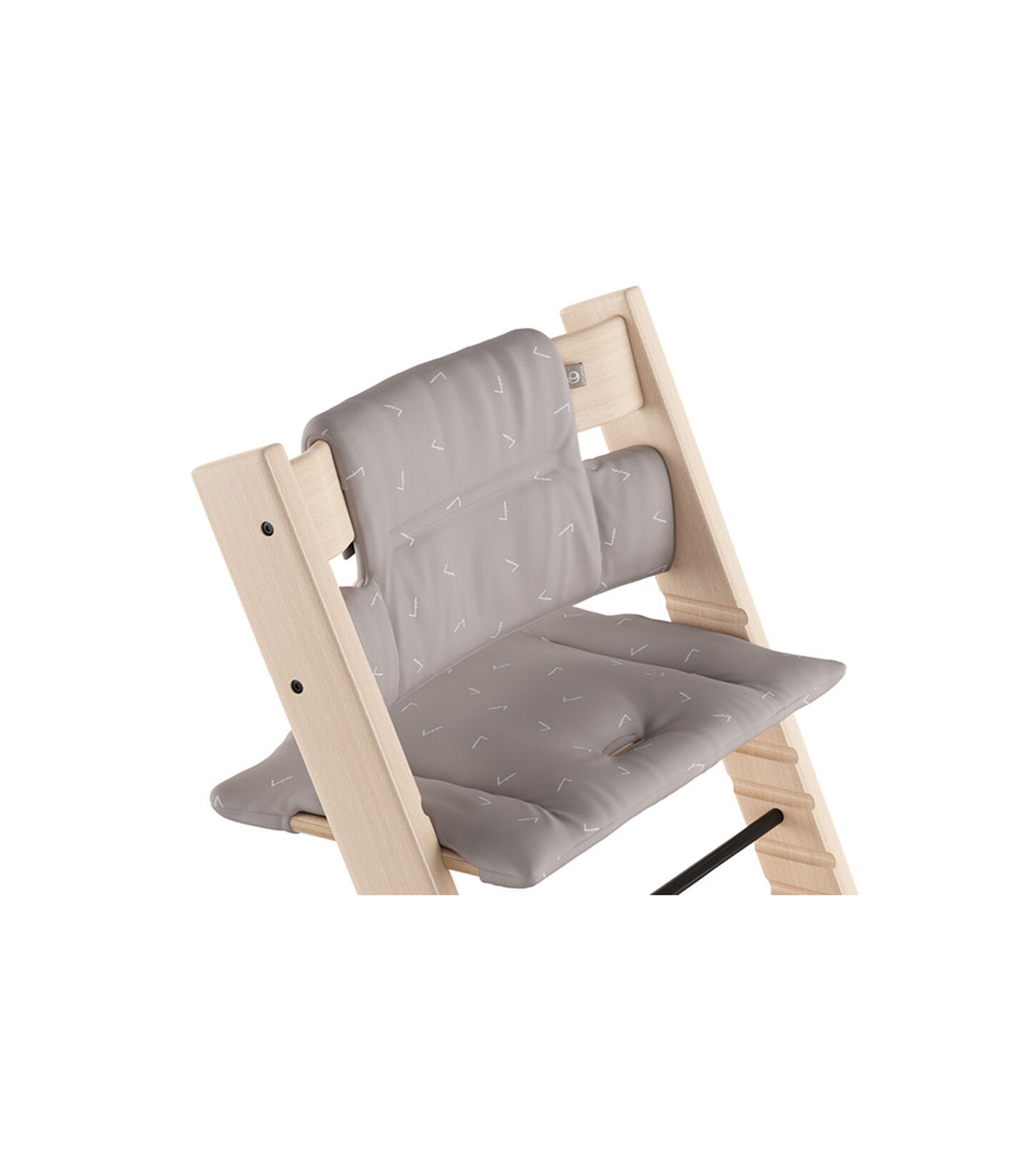 Tripp Trapp® Natural with Classic Cushion Icon Grey.  view 1