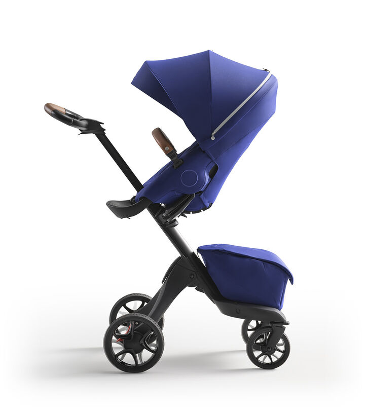 Stokke® Xplory® X Royal Blue Stroller with Seat Parent Facing view 1