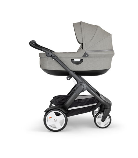 Stokke® Trailz™ Classic Black with Black Handle Brushed Grey, Gris, mainview view 3