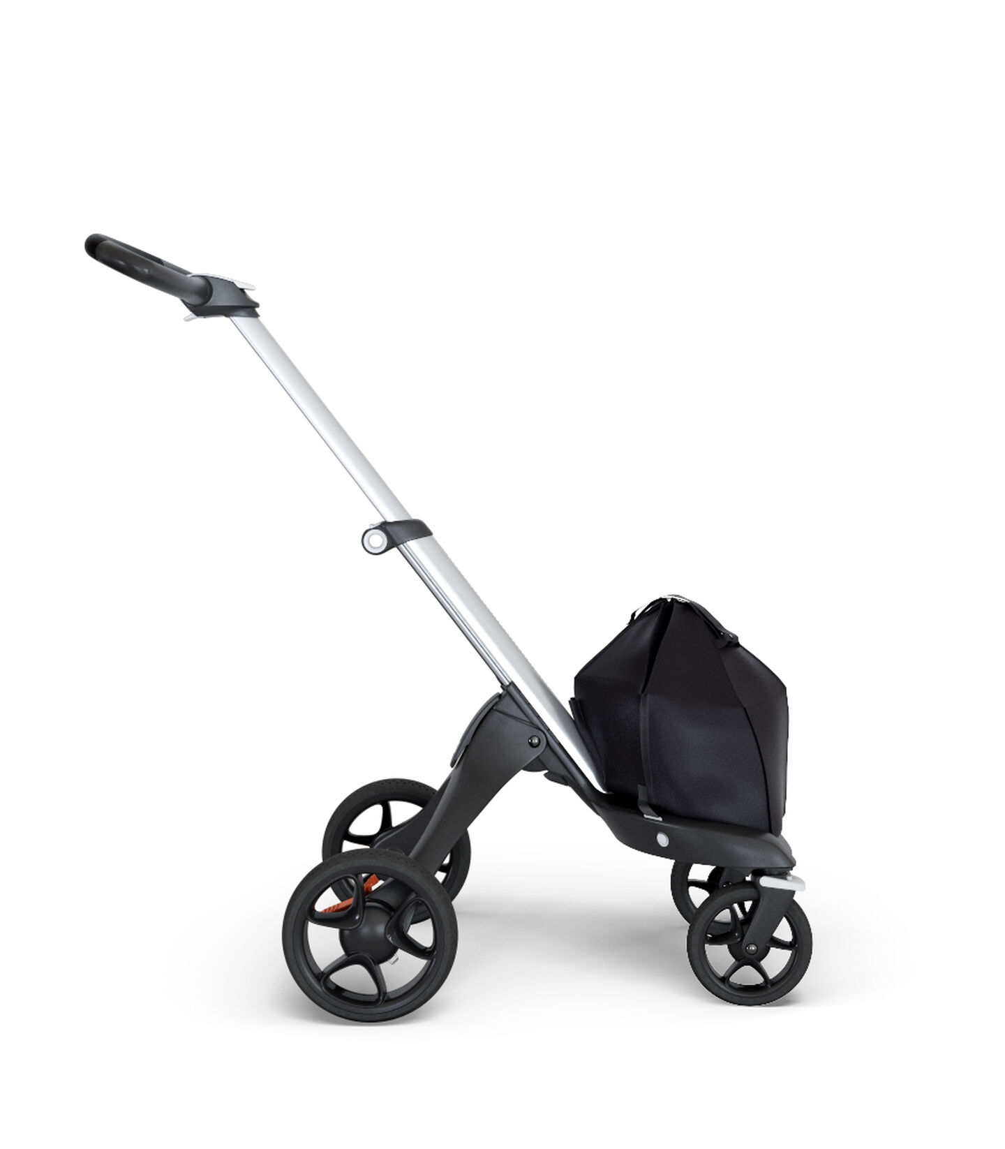 Stokke® Xplory® Chassis Silver with Black Handle, Black, mainview