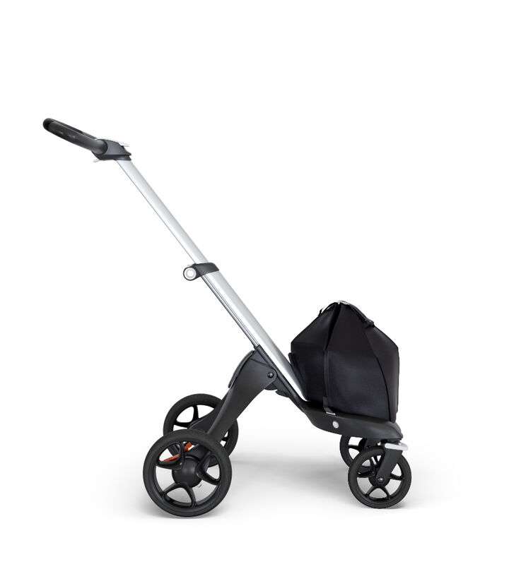 Stokke® Xplory® 6 Chassis Silver - Black Handle, Black, mainview