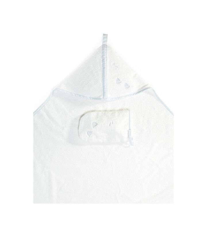 Stokke® Hooded Towel Blue Sea, Bleu océan, mainview view 1