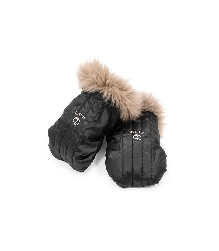 Stokke® Stroller Mittens, Onyx Black. Part of Stokke® Stroller Winter Kit. view 1