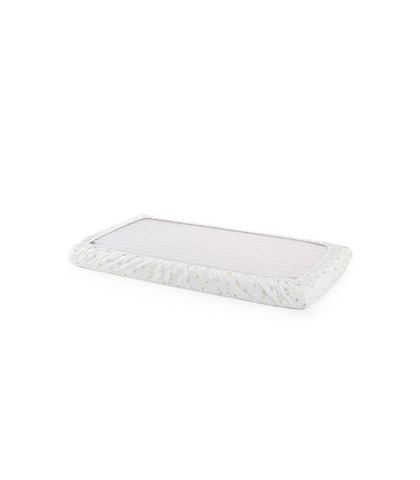Stokke® Home™ Fitted Sheet. Soft Rabbit. Bottom side.
