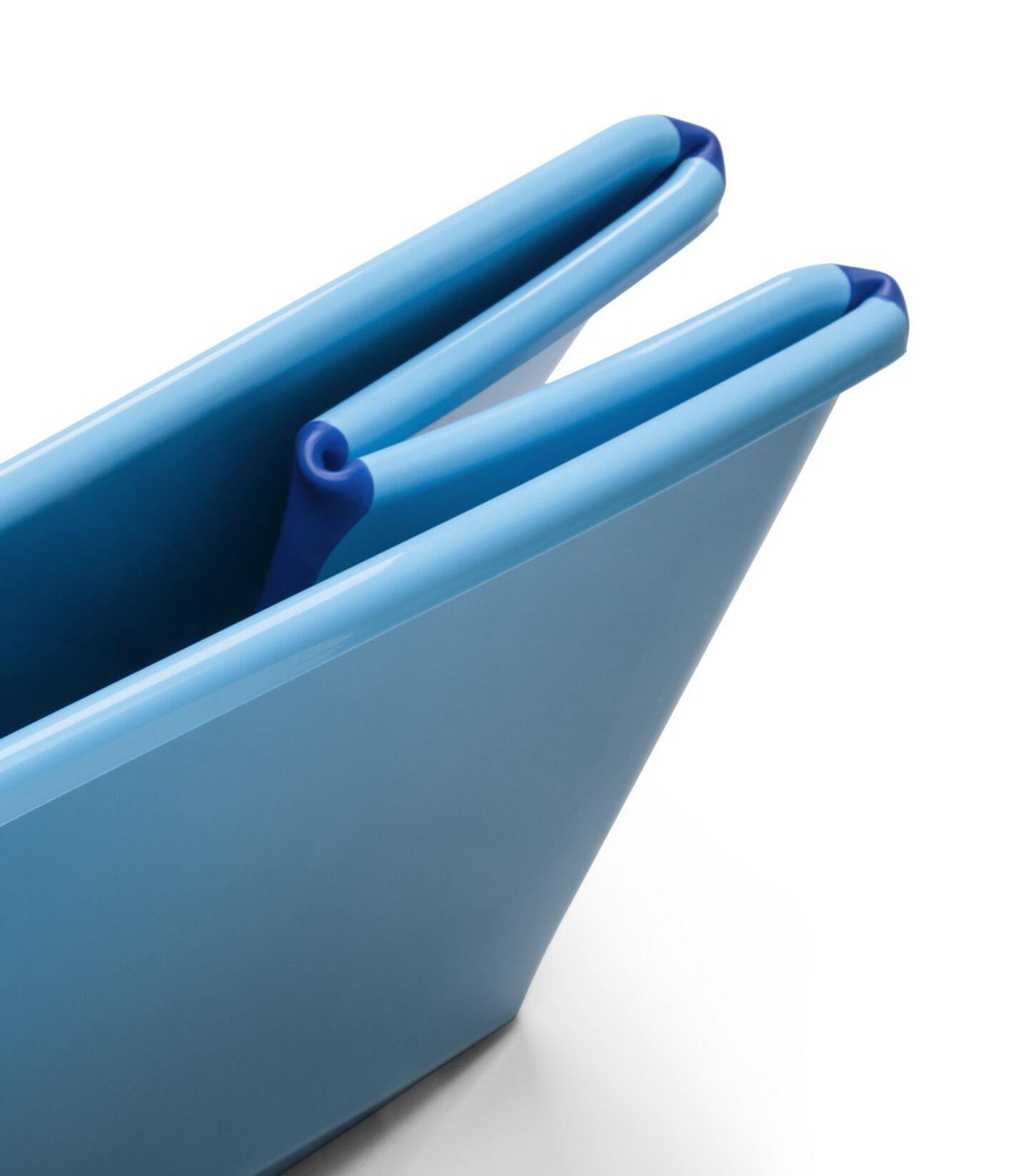 Bath tub, Blue. Folded detail.