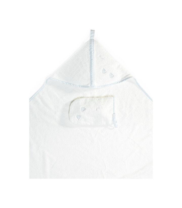 Stokke® Hooded Towel Blue Sea. view 1
