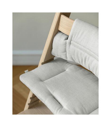 Tripp Trapp® Classic Cushion Nordic Grey on Oak Natural chair view 2