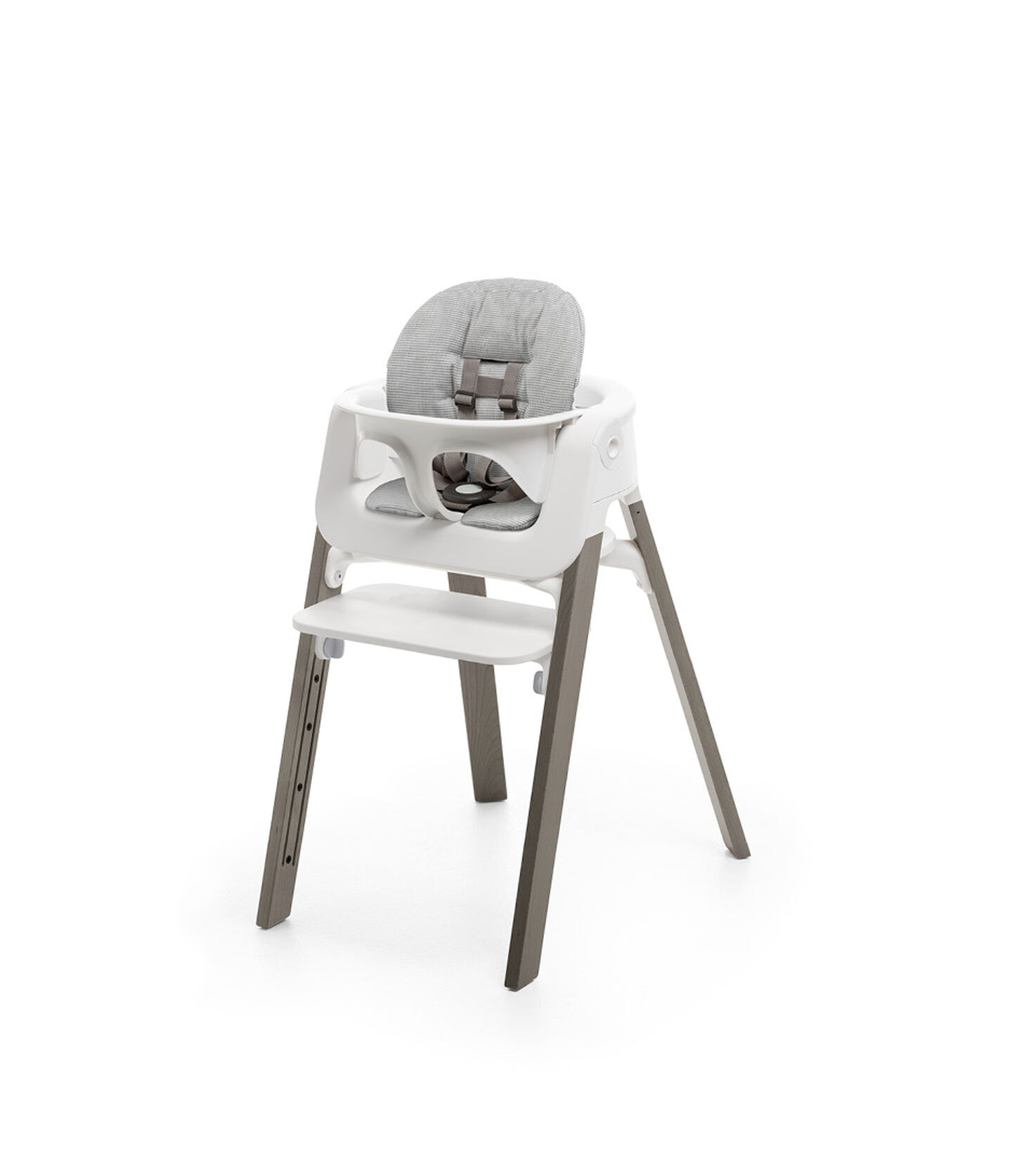Stokke® Steps™ Storm Grey with Baby Set and Nordic Grey Cushion. view 3