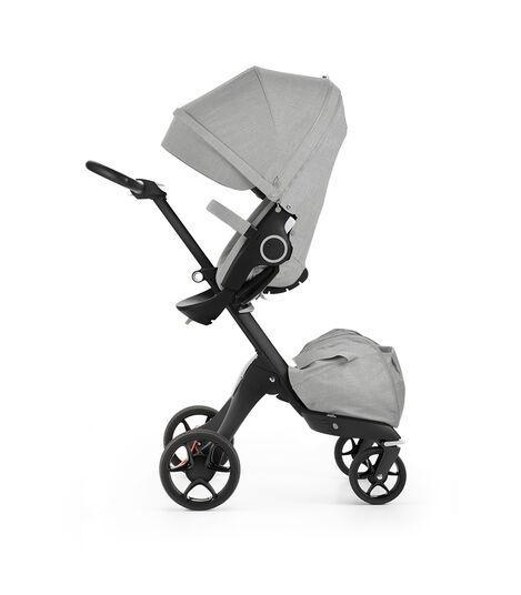 Stokke® Xplory® with Stokke® Stroller Seat, Black Melange. New wheels 2016. view 3