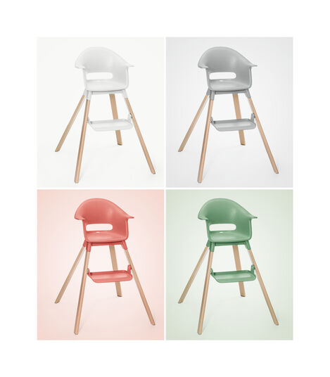 Stokke® Clikk™ High Chair Soft Pink, Sunny Coral, mainview view 7