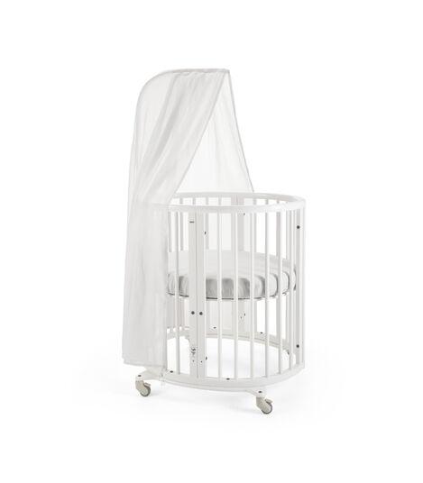 Stokke® Sleepi™ Mini, White. Canopy, Fitted Sheet White. view 2