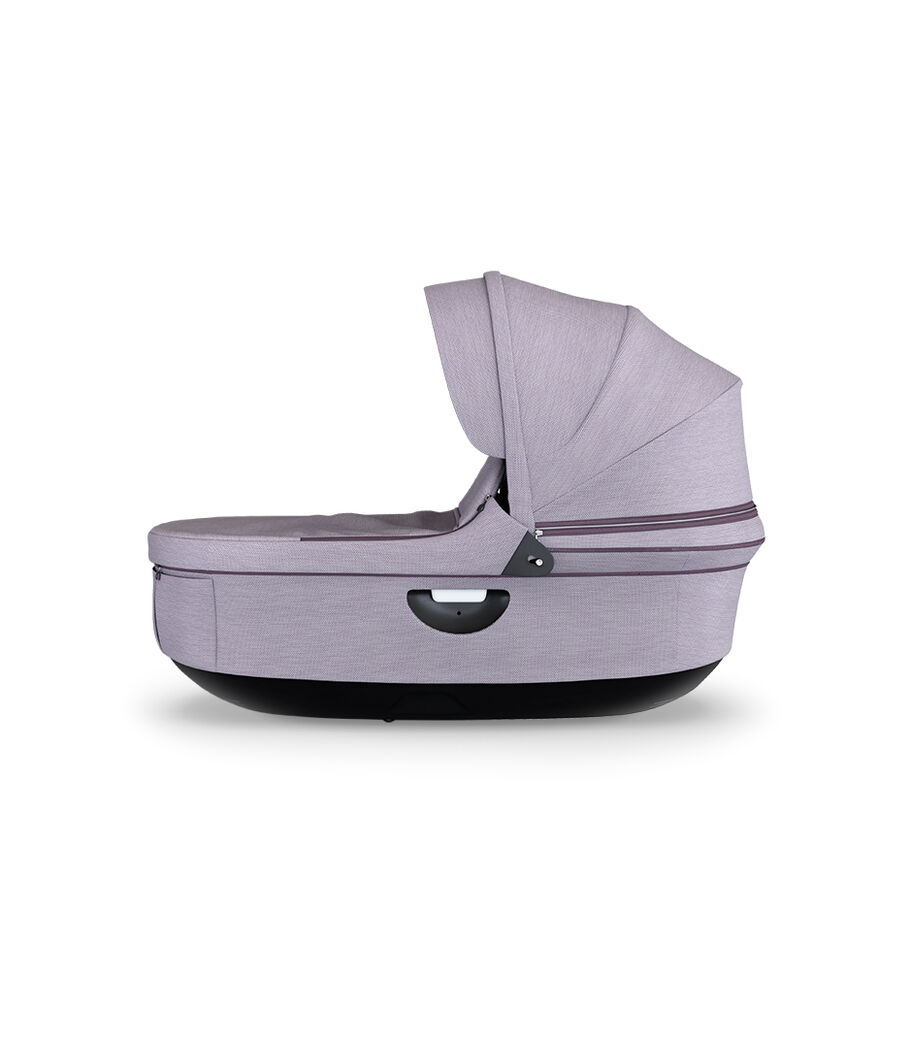 Stokke Stroller Black Carry Cot, Brushed Lilac, mainview