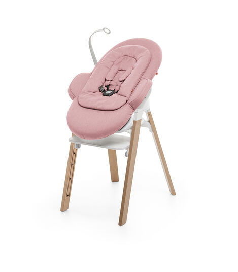 Bouncer, Pink. Mounted on Stokke Steps highchair. view 4