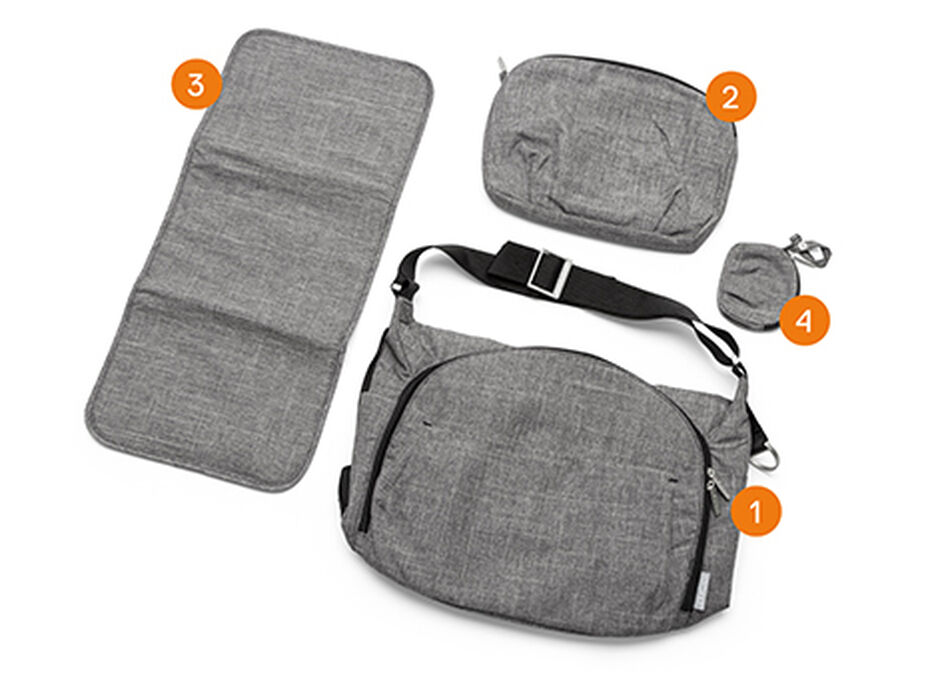 Stokke® Stroller Changing Bag, Items included.