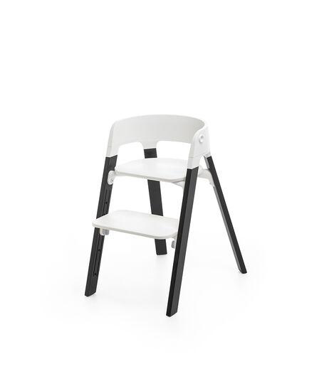 Stokke® Steps™ Chair White Seat Oak Black Legs, Oak Black, mainview view 3
