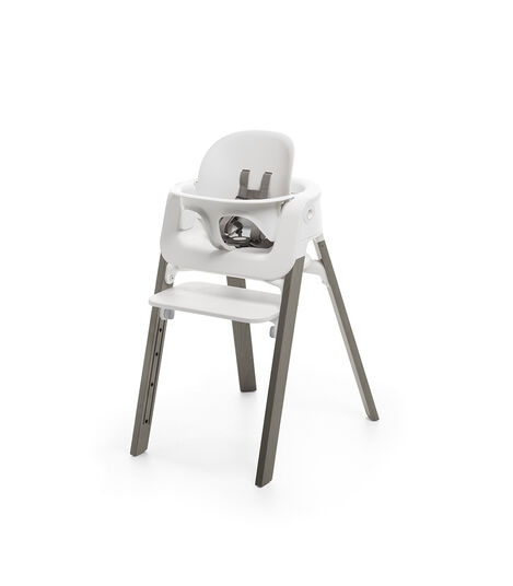 Stokke® Steps™ Chair White Hazy Grey, White/Hazy Grey, mainview view 3