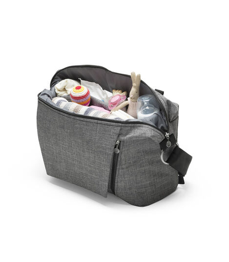 Stokke® Stroller Changing Bag, Black Melange. view 4