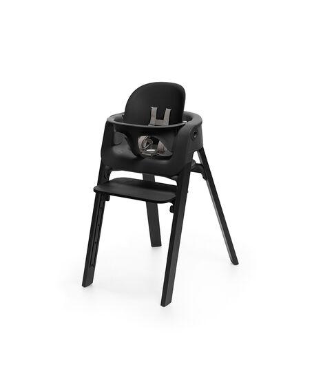 Stokke® Steps™ Oak Black with Baby Set Black.