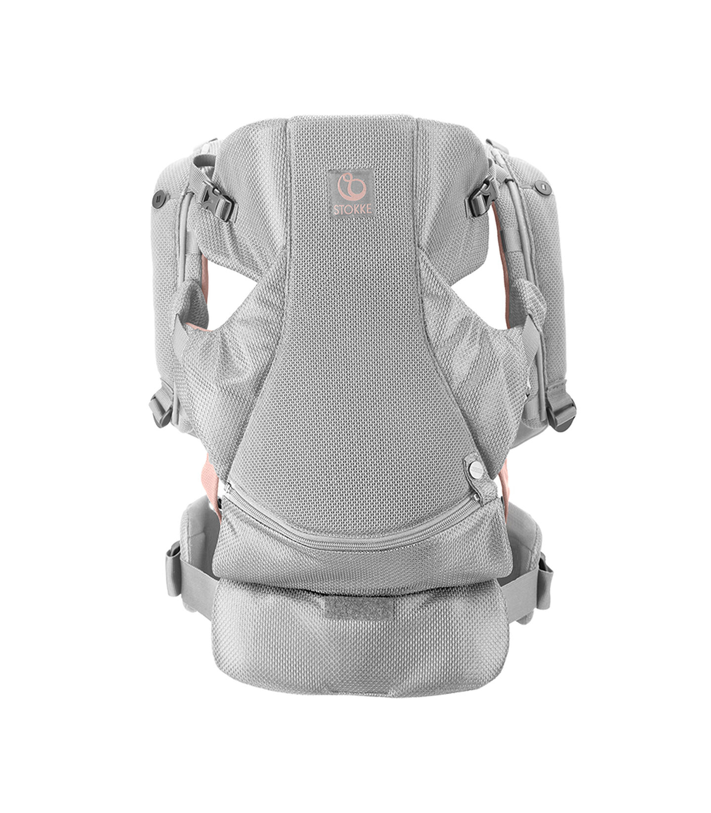 Stokke® MyCarrier™ Front Carrier, Pink Mesh. view 2