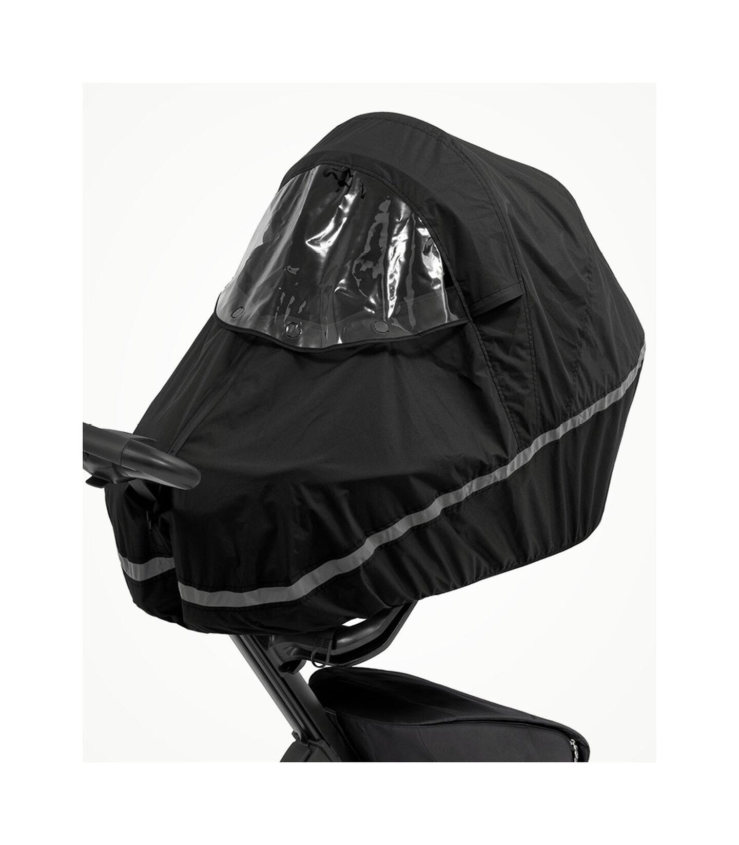 Stokke® Xplory® X Regenschutz Black, Black, mainview view 3