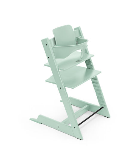Tripp Trapp® chair Soft Mint, Beech Wood, with Baby Set. view 4