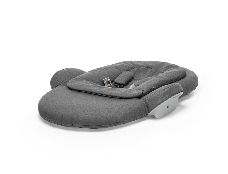 Stokke® Steps™ Newborn Set in Deep Grey, folded.
