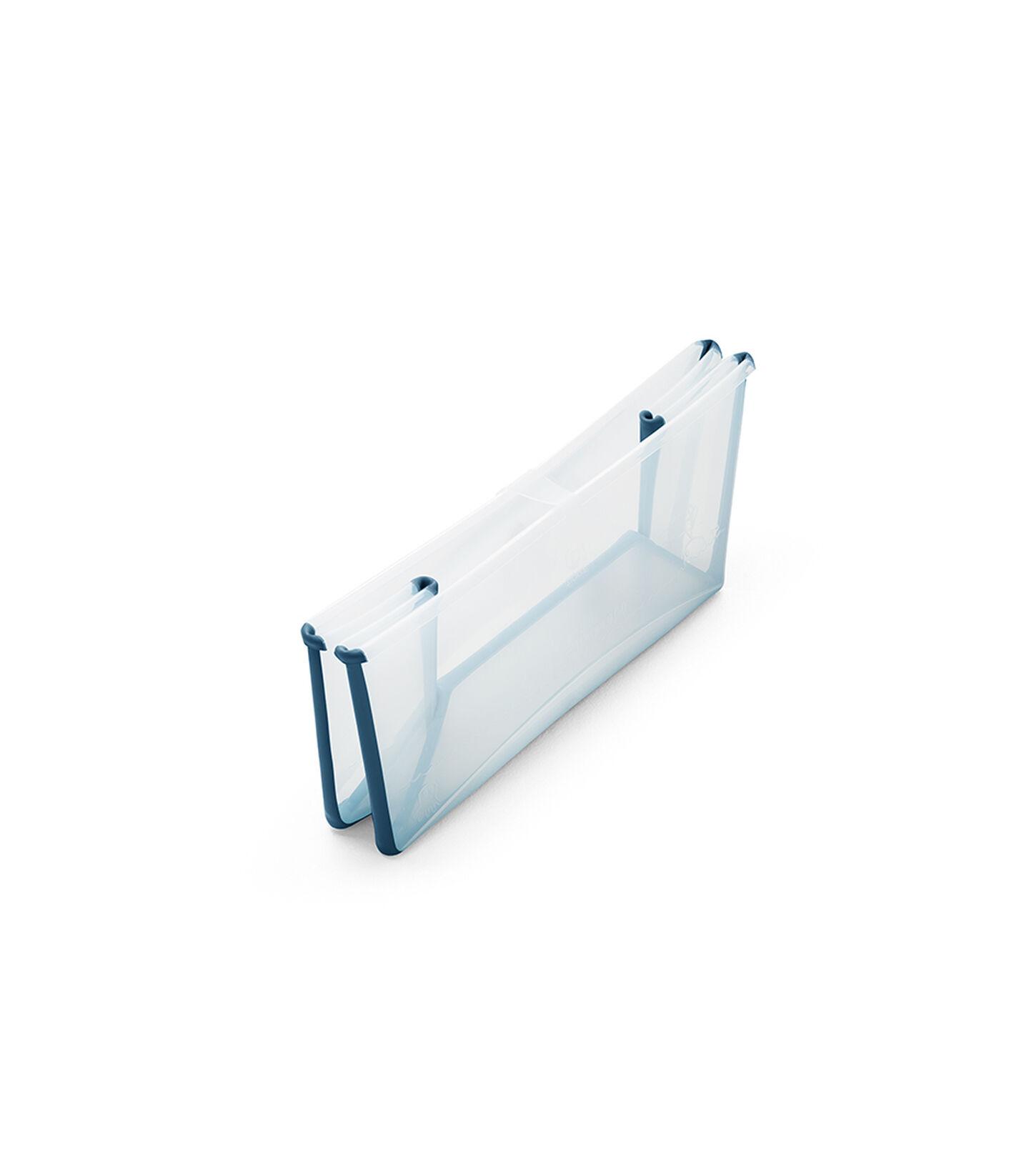 Stokke® Flexi Bath® bath tub, Transparent Blue. Folded.