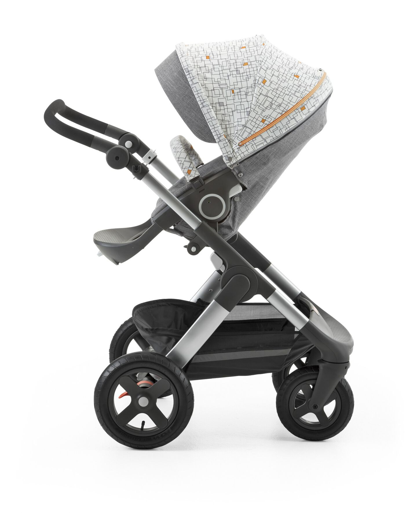 Stokke® Stroller Seat Style Kit Grid with Stokke® Trailz™ chassis, Black Melange