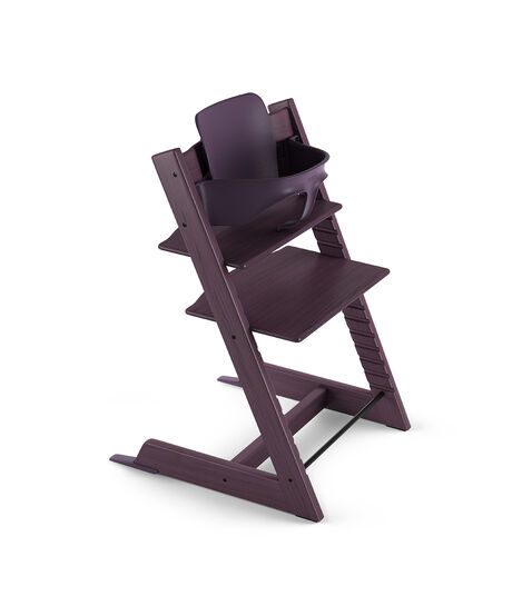 Tripp Trapp® Chair Plum Purple with Baby Set. view 3