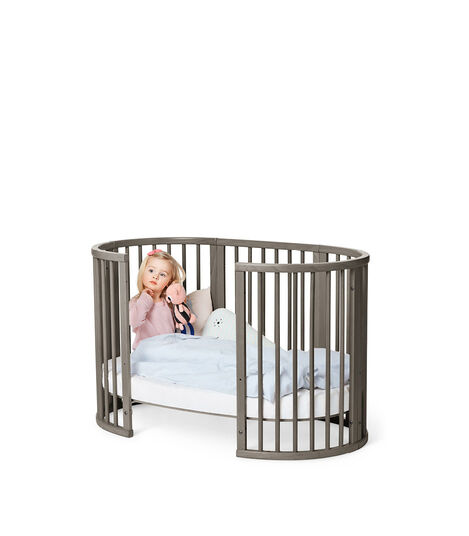 Stokke® Sleepi™ Extension Bed Hazy Grey, Grigio Opaco, mainview view 3