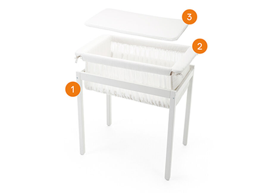 Stokke® Home™ Cradle. Items included.