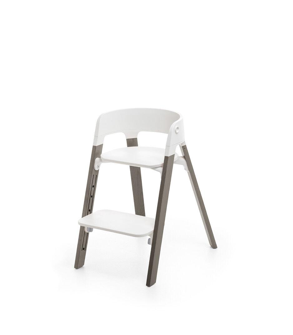 Stokke® Steps™ Chair White Seat Hazy Grey Legs