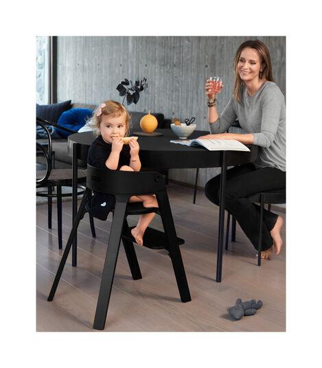 Krzesło Stokke® Steps™ Black, Black, mainview view 3