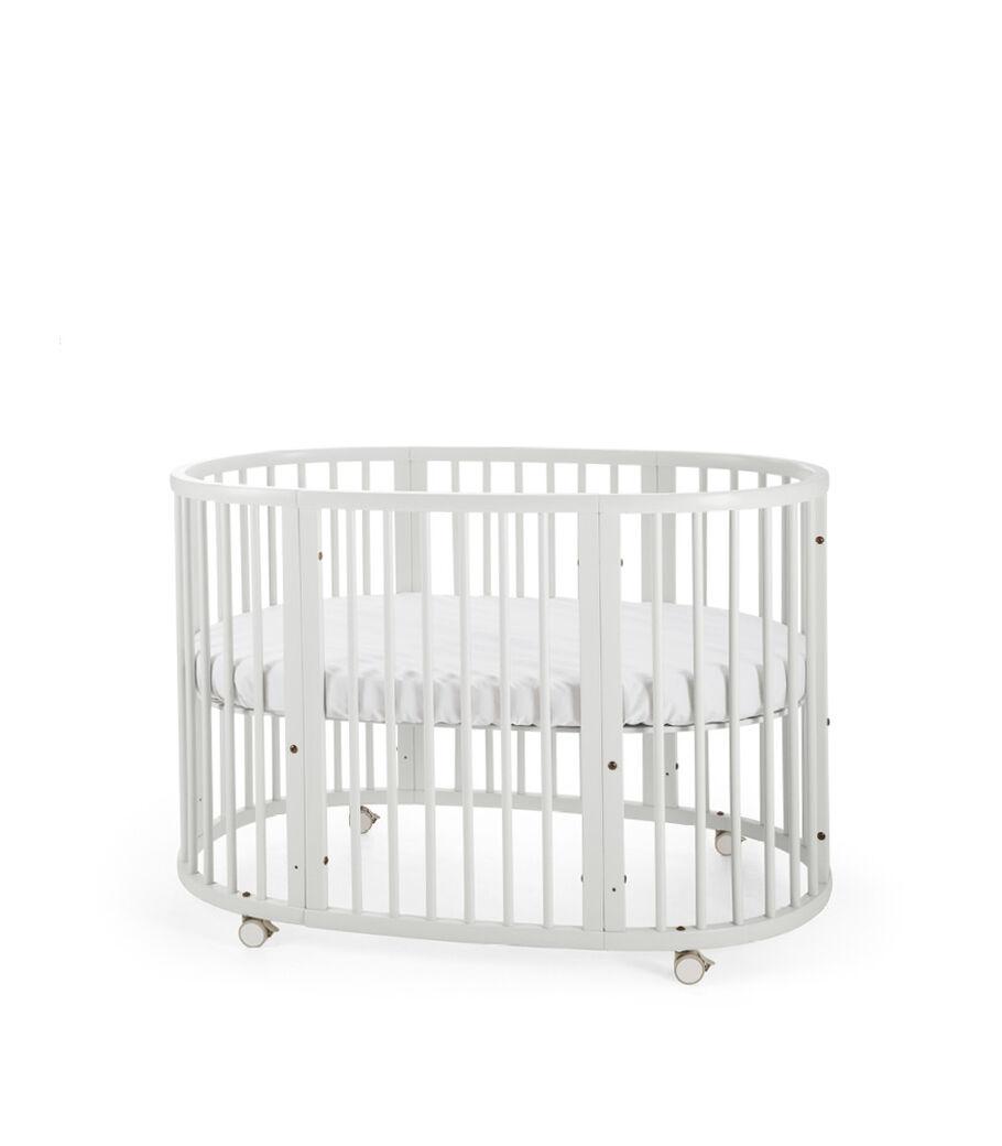 Stokke® Sleepi™ Bed. White. Mattress high.