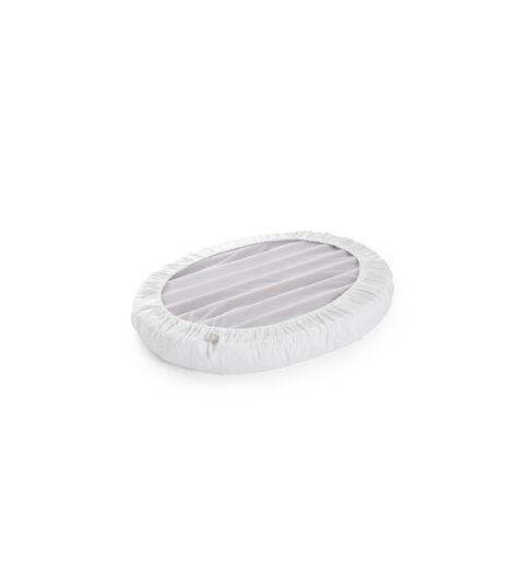 Stokke® Sleepi™ Mini Fitted Sheet. White. Bottom side. view 3