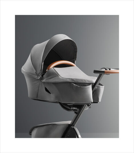 Stokke® Xplory® X Modern Grey (Carry Cot) and Rich Black (Seat). Strollers. view 3