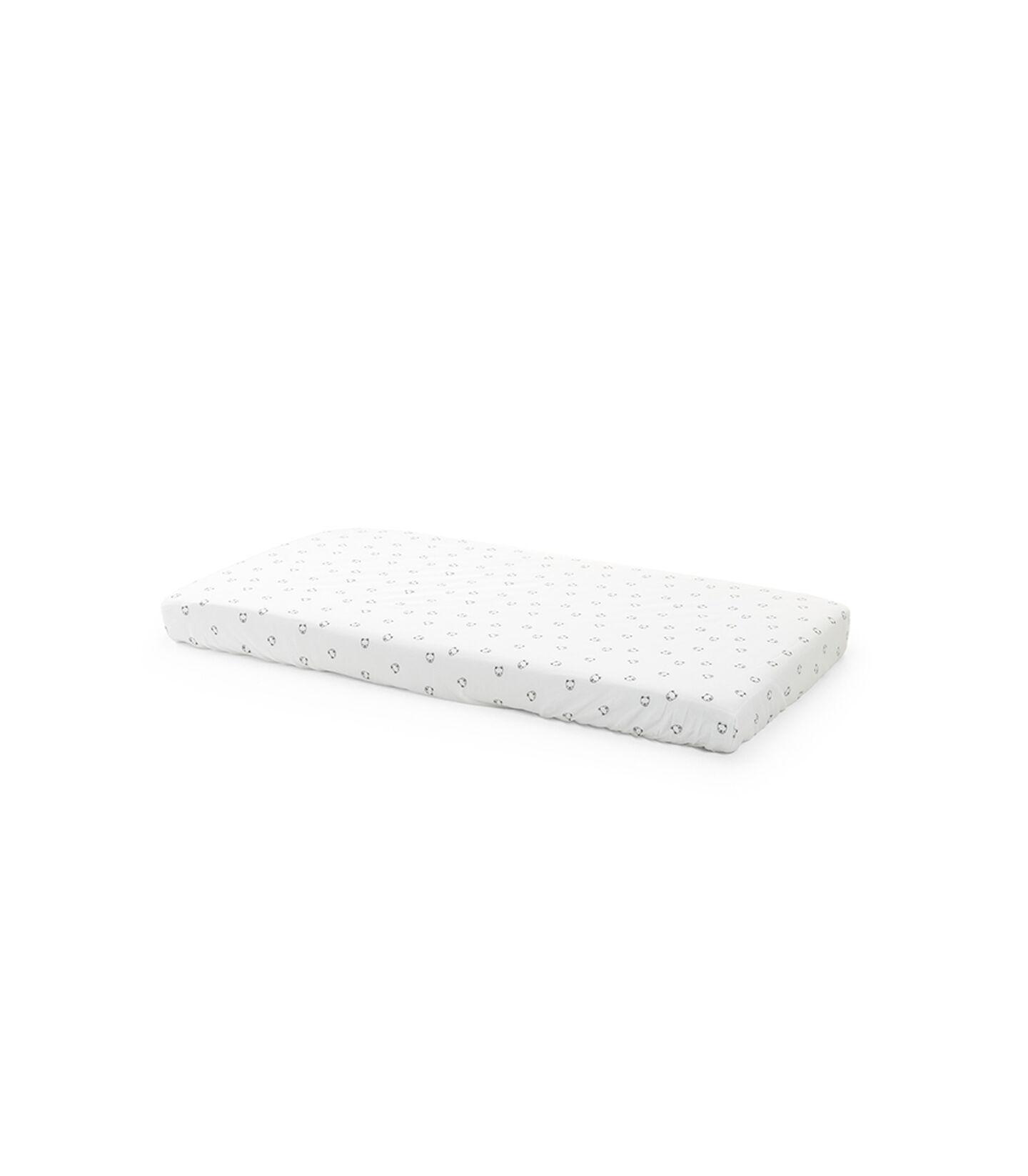 Stokke® Home™ Bed hoeslaken 2st - Monochrome Bear, Monochrome Bear, mainview
