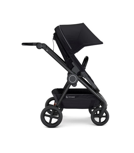 Stokke® Beat™ with Seat. Black. Forward facing.