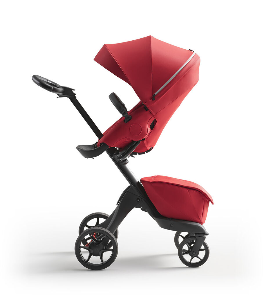 Stokke® Xplory® X Ruby Red Stroller with Seat Parent Facing view 4
