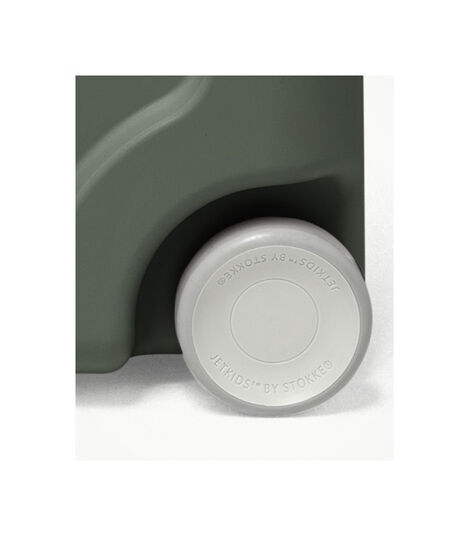 JetKids™ by Stokke® BedBox V3. Golden Olive. Wheel detail. view 8