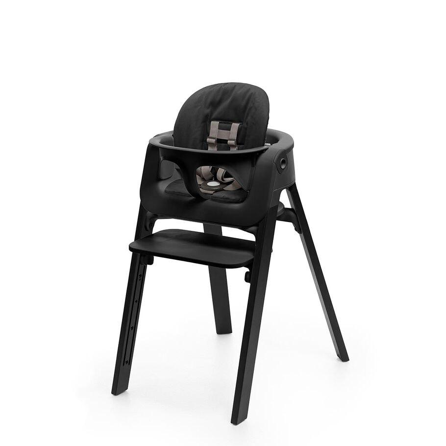 Oak Black Chair, Black Baby Set