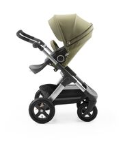 Stokke® Trailz™ with Stokke® Stroller Seat Style Kit Olive.