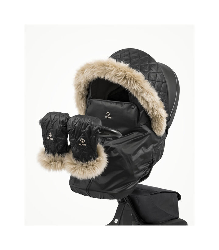 Stokke® Xplory® X with Seat and Winter Kit complete. Active. Zoomed. view 1