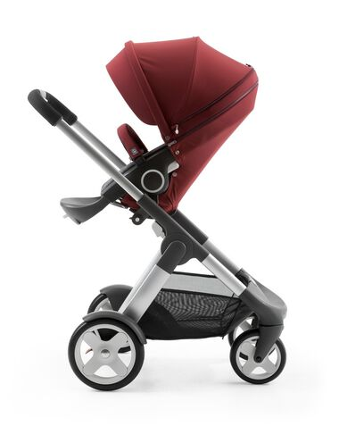Stokke® Crusi™ with Stokke® Stroller Seat Style Kit Borgundy.