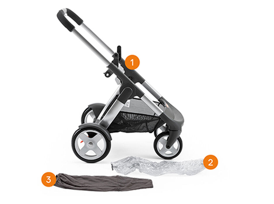 Stokke® Crusi™ Chassis. items included.
