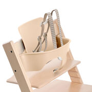 Tripp Trapp®, White, with Baby Set Natural. Detail. US version.