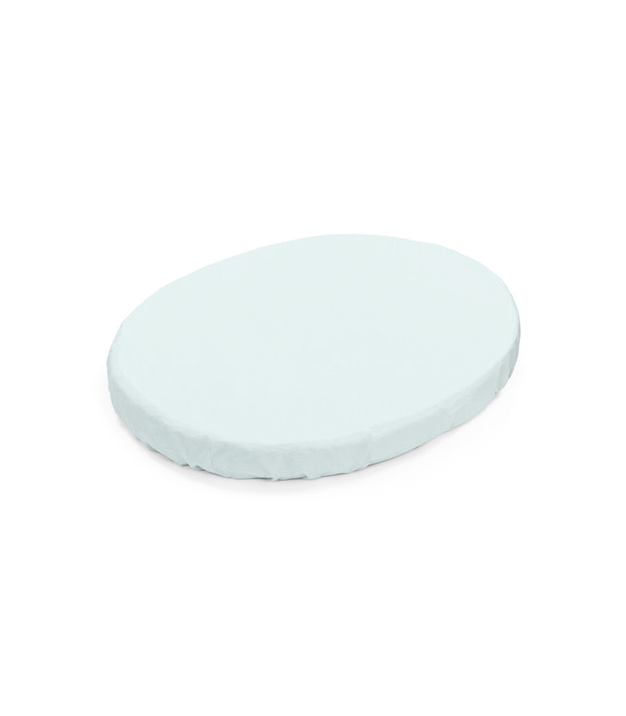 Stokke® Sleepi™ Mini Fitted Sheet. Powder Blue. view 6
