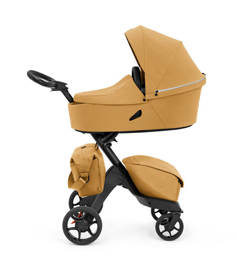 Stokke® Xplory® X Changing Bag Golden Yellow on Stroller. Accessories. view 5