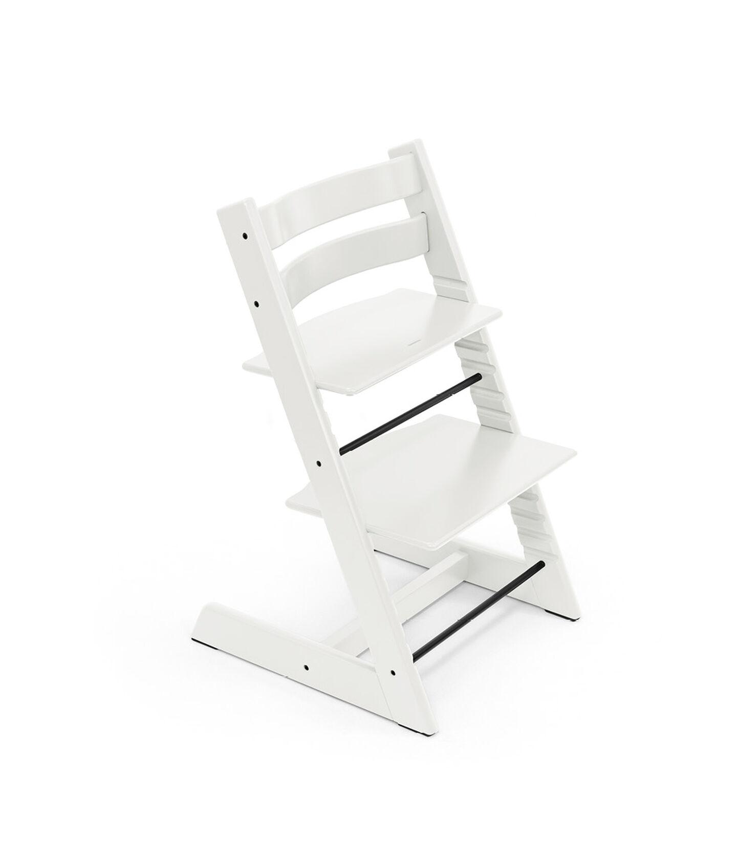 Tripp Trapp® chair White, Beech Wood. view 2