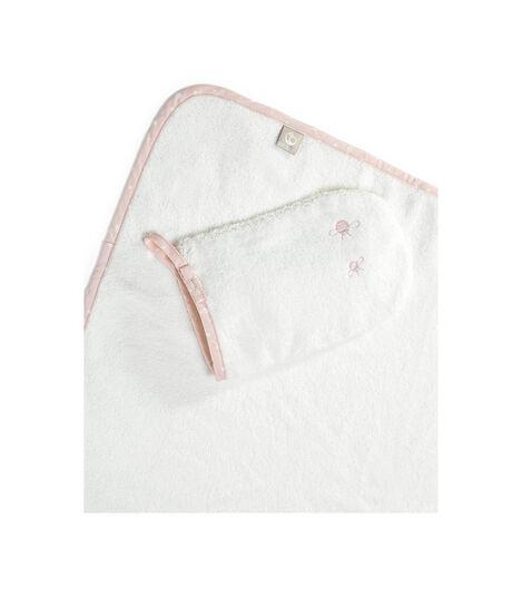 Stokke® Hooded Towel Pink Bee. view 2